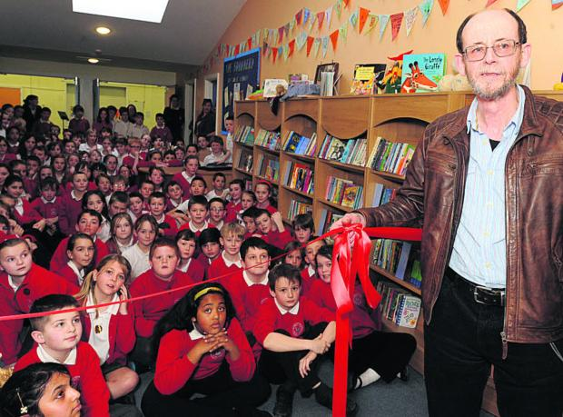 Children's poet Brian Moses joined pupils and teachers at Westbury Leigh Primary School in Westbury for the opening of the new library