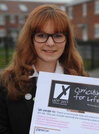 Teenager Ellie Pullen, a former Member of Youth Parliament for West Wiltshire, is calling for young people to reply to First Bus' fare consultation