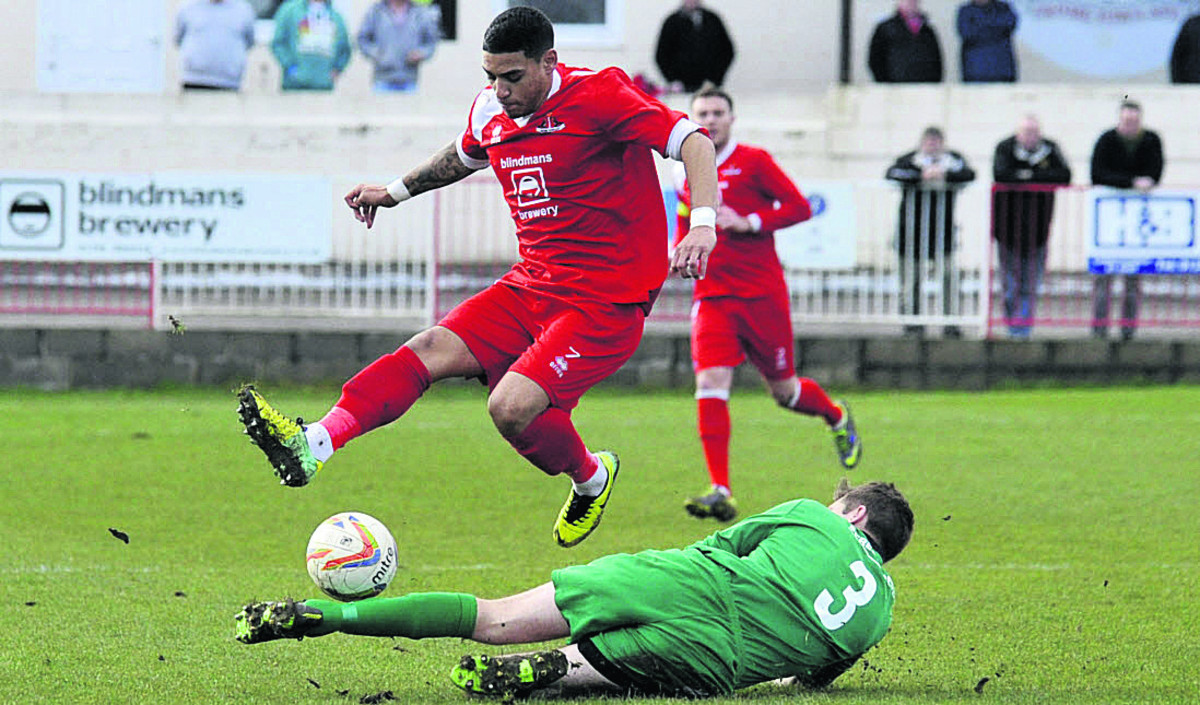 Kris Miller netted the winning goal for Frome Town in Wendesday's 5-4 triumph over St Neots Town