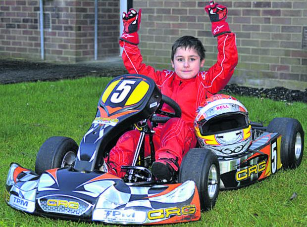 Wiltshire Times: Young kart racer Enzo Toms