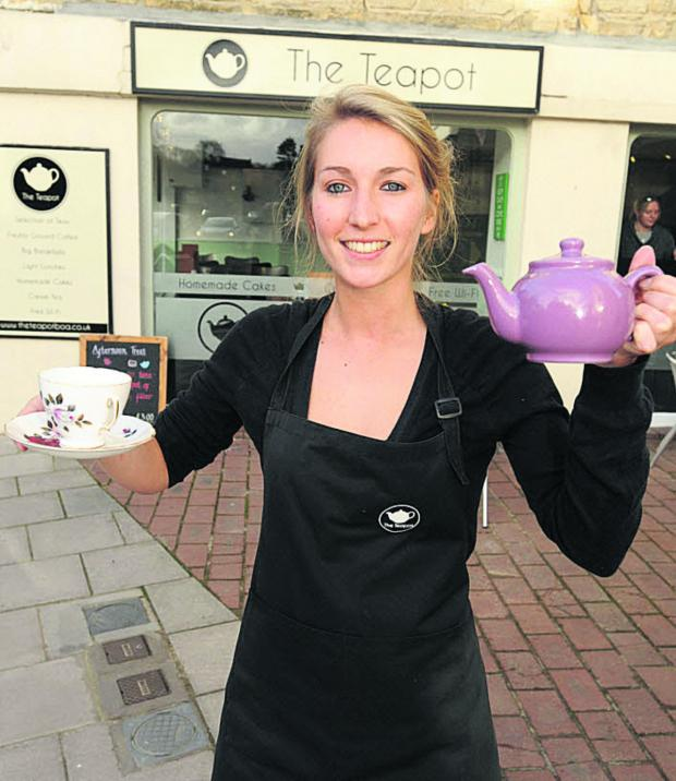 Wiltshire Times: Becky Tyler, owner of The Teapot cafe in Bradford on Avon