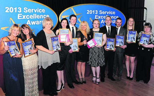 Finalists in the annual Service Excellence Awards last night