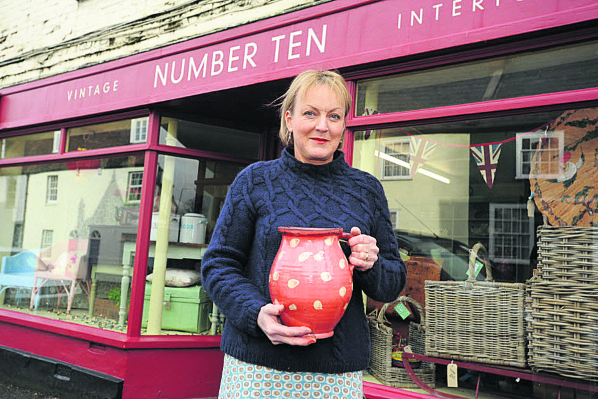 Adele Kammeyer opened her shop in Silver Street, Warminster, after the antiques store she worked in shut down   Photo: Trevor Porter (48240)