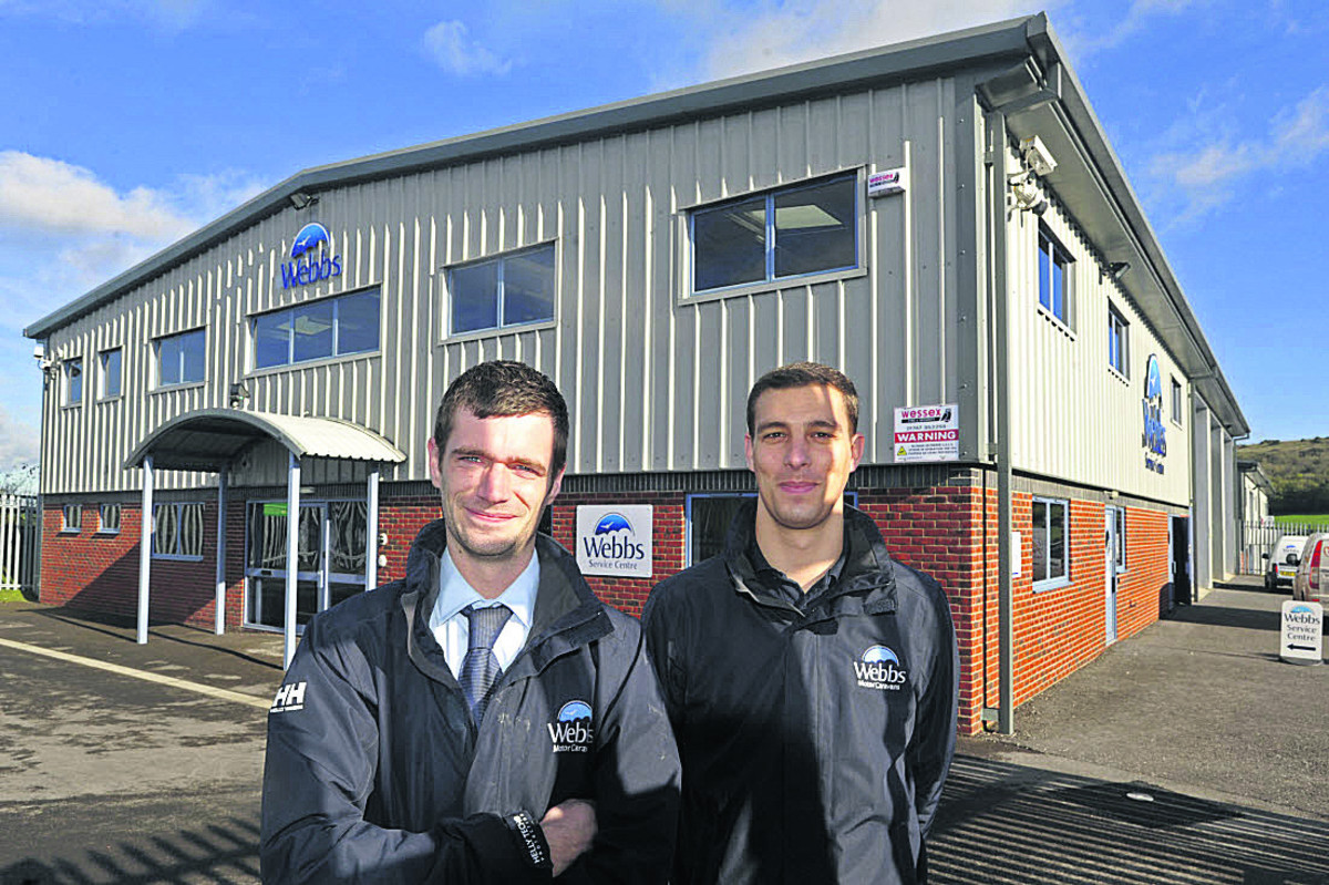 Service manager Tom Dickson, left, and Matthew Webb, group parts and accessories manager at the new centre