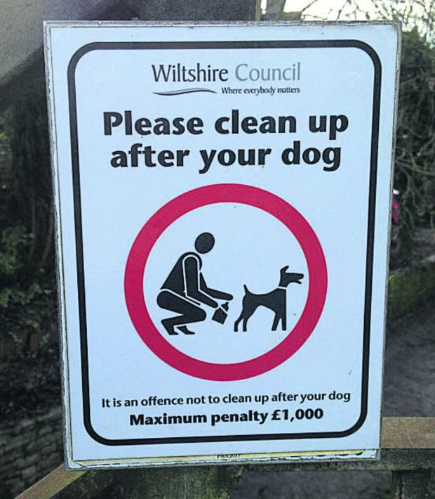 Wiltshire Times: It is a civil offence not to clear up after dogs