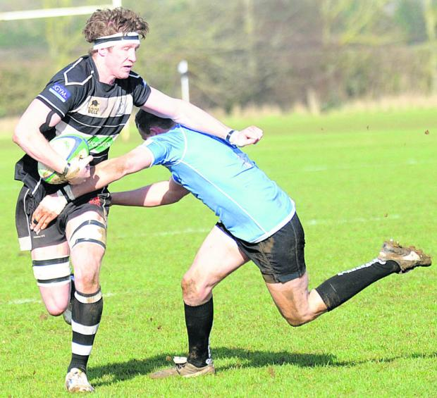 Chippenham try scorer Bobby Lyons in action during Saturday's defeat (Picture by Diane Vose (DV1147-001)