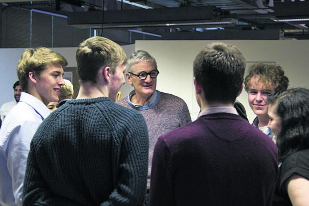 Wiltshire Times: Sir James Dyson meets Malmesbury School students recently