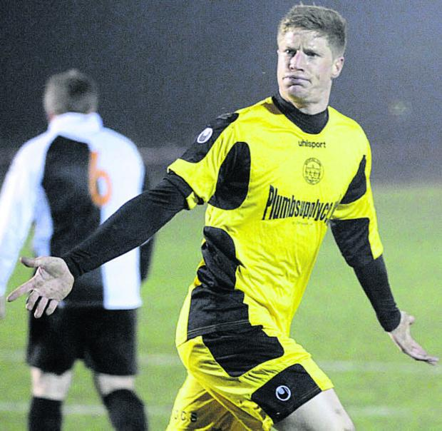 Sam Jordan took his goal tally for the season to 70 goals as Bradford Town beat Almondsbury UWE last night