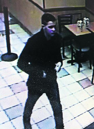 Police would like to speak to this man in connection with an attempt to use forged bank notes in Subway, Chippenham