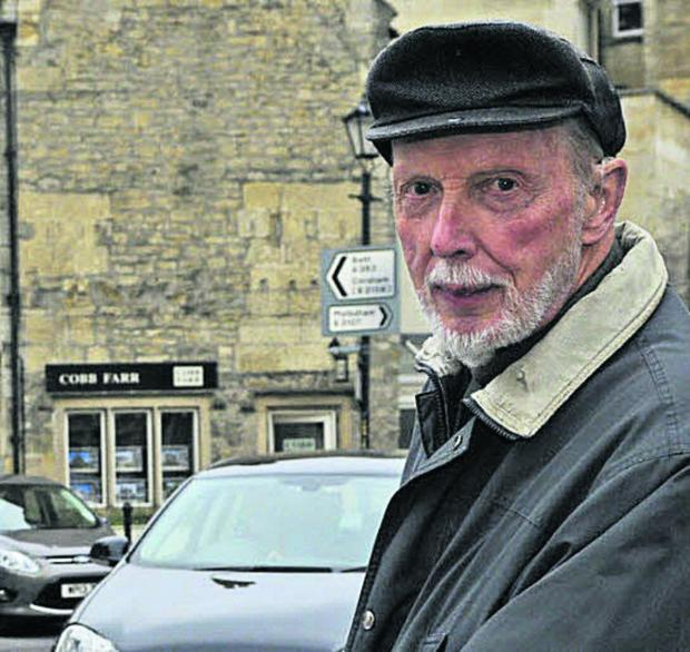 Traffic campaigner Godfrey Marks oppose the Historic Core Zone in Bradford on Avon