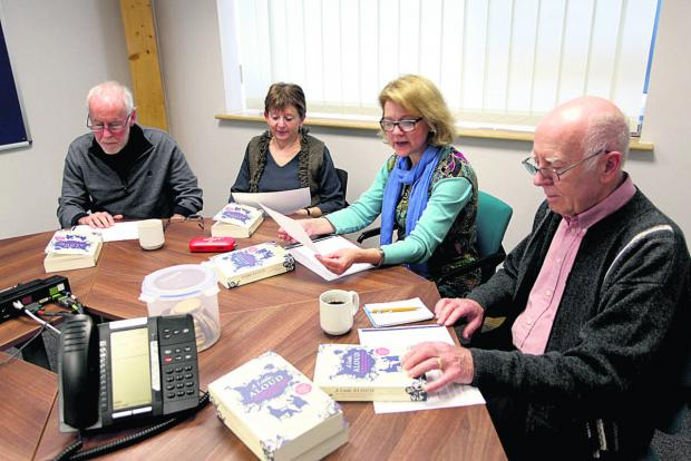 Wiltshire Times: From left  are Noel and Sue Hardy, group leader Josephine Corcoran and David Haley 								  (VS235) By VICKY SCIPIO
