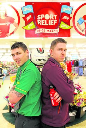 Morrisons worker Dan Bendall and Sainsbury's counterpart Tim Knight were among rival staff who took part in a football match at the weekend