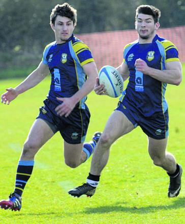 Jackson Szabo (right) scored a hat-trick of tries for Trowbridge