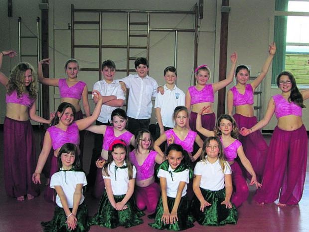 Pupils at the dance festival