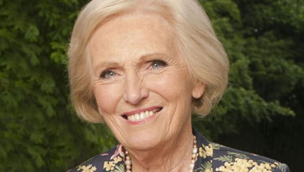 Cookery writer and broadcaster Mary Berry