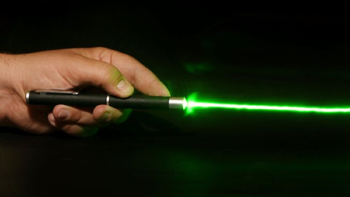 A laser pen like this was shone at an Airbus at Calne