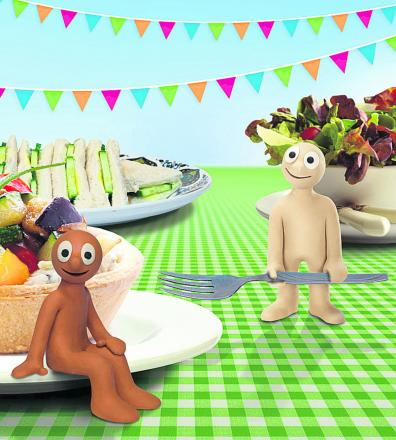 Morph and his friend Chas get ready for The Big Lunch. Can you create an animated film to help celebrate The Big Lunch