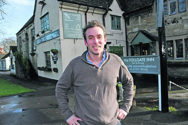 Mark Hodges took over The Tollgate Inn, which included a farm shop, with his partner Laura Boulton in August 2012