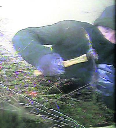 Police have issued this CCTV image of a man they want to speak to about vandalism at a house on the A365 near Melksham Oak Community School