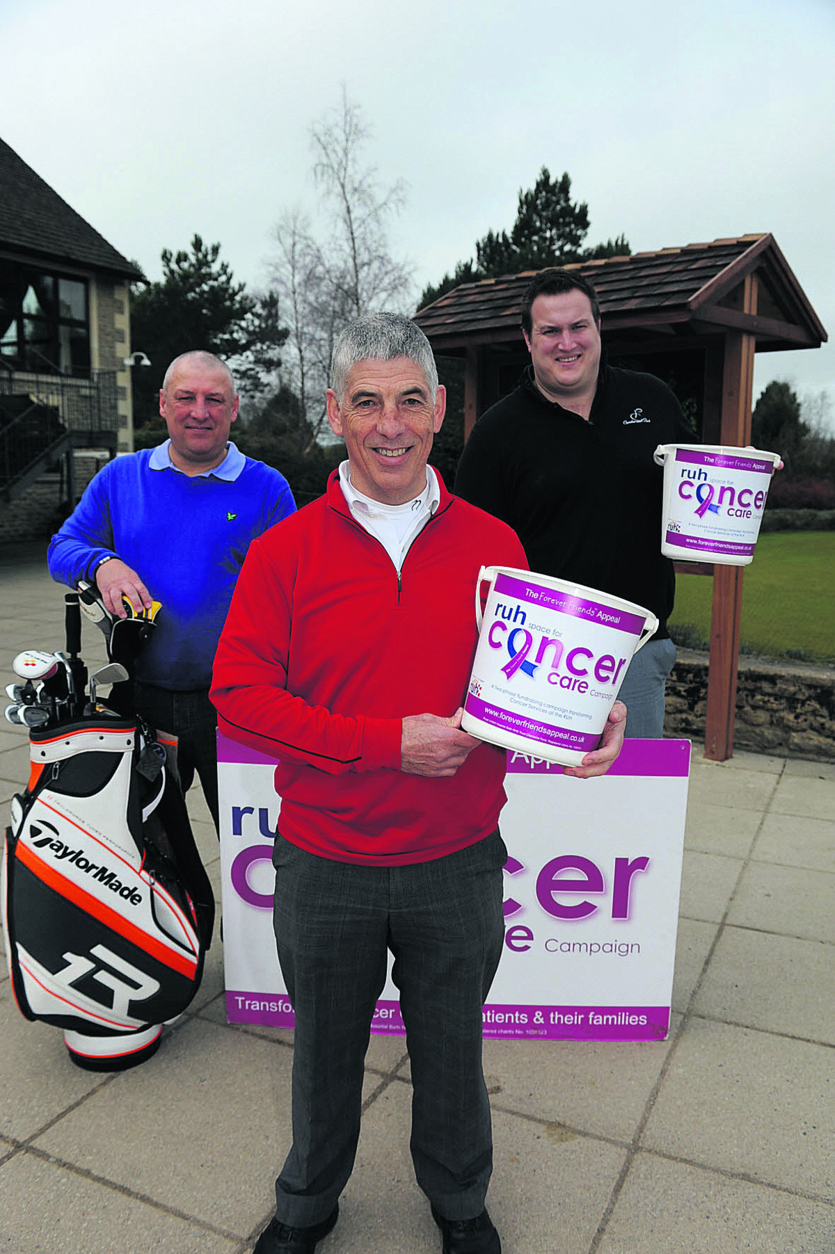 Martin Cooper, centre, with Mark Hobbs, left, and Ali James, who hope to raise £10,000