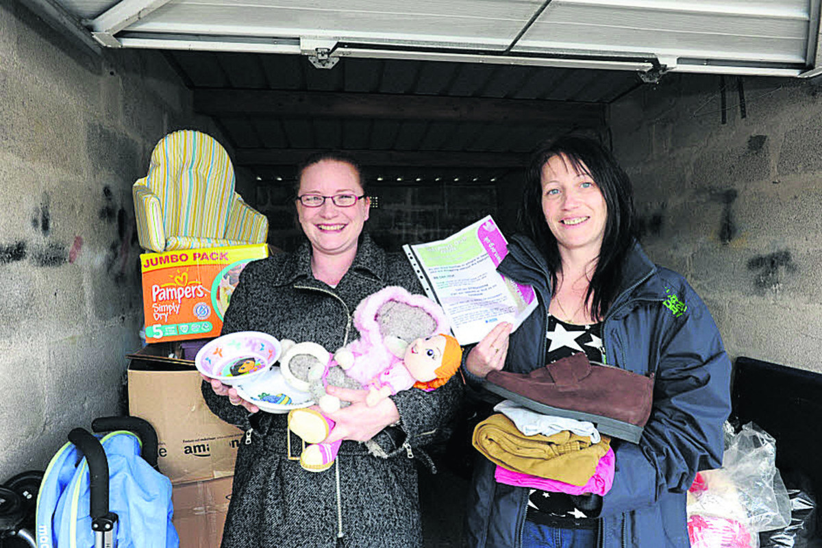 Fay Yandell and Claire Parfitt, who set up the a Facebook page called Helping Our Own to aid needy families in Melksham