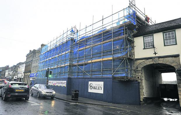 The Bath Arms under wraps during the refurbishment