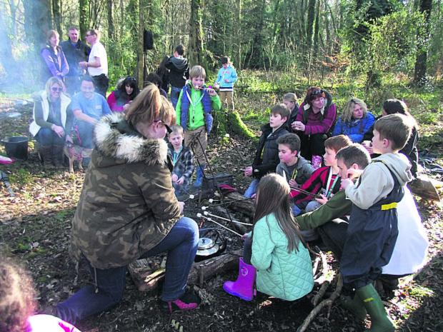 Children go wild over at Sutton Veny's fabulous forest school
