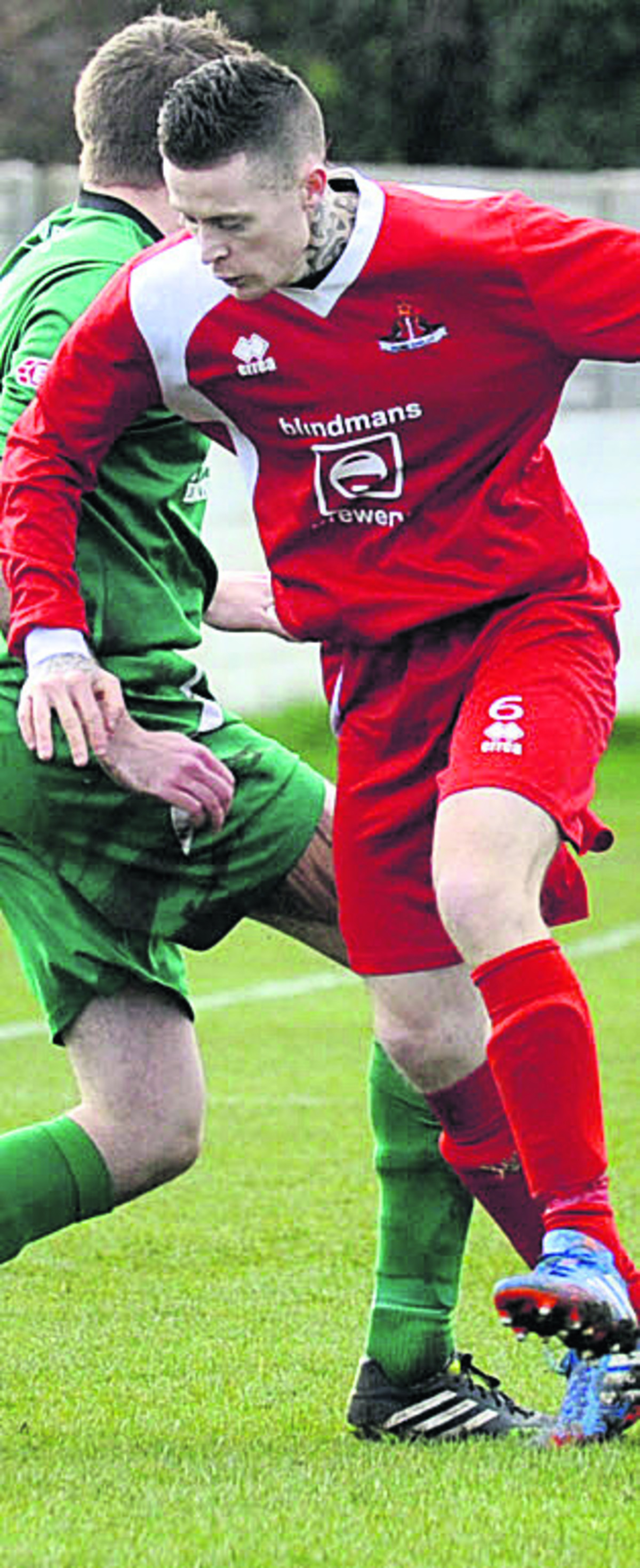 Jon Vance scored twice for Frome to send them to the Somerset Premier Cup final