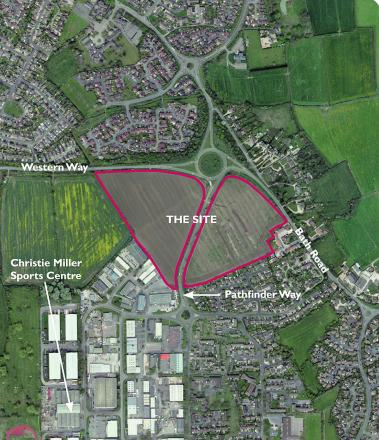 The buffer zone fields which could be used for homes