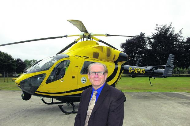 David Philpott, chief executive of Wiltshire Air Ambulance Charitable Trust