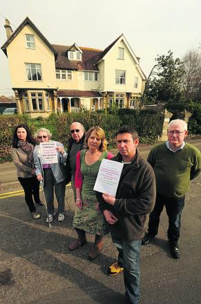 Richard Hall, partner Kate Drew and other residents unhappy about development plans for Greenwood House