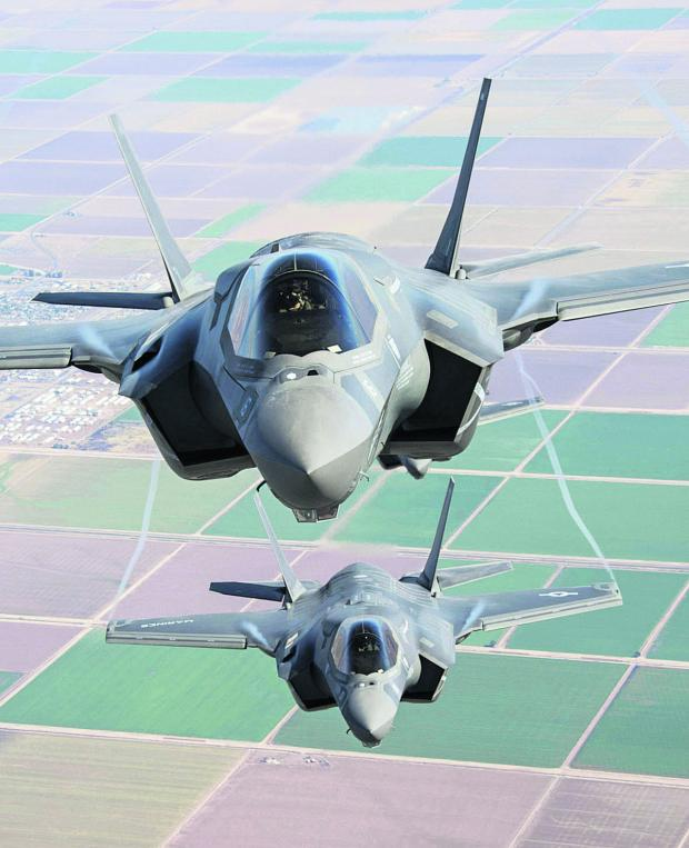 Wiltshire Times: Two F-35 Lightning II go through their paces over southern California