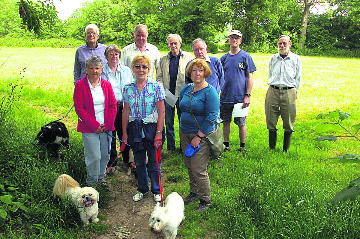 Some of the Friends of Birds Marsh pictured after winning village green status against developers