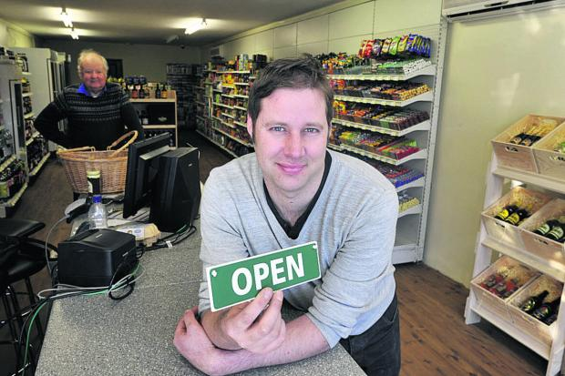 Matt Lawes of Dilton Marsh Village Store which opened for business this week 						 	      Photo: Glenn Phillips (49300-1)