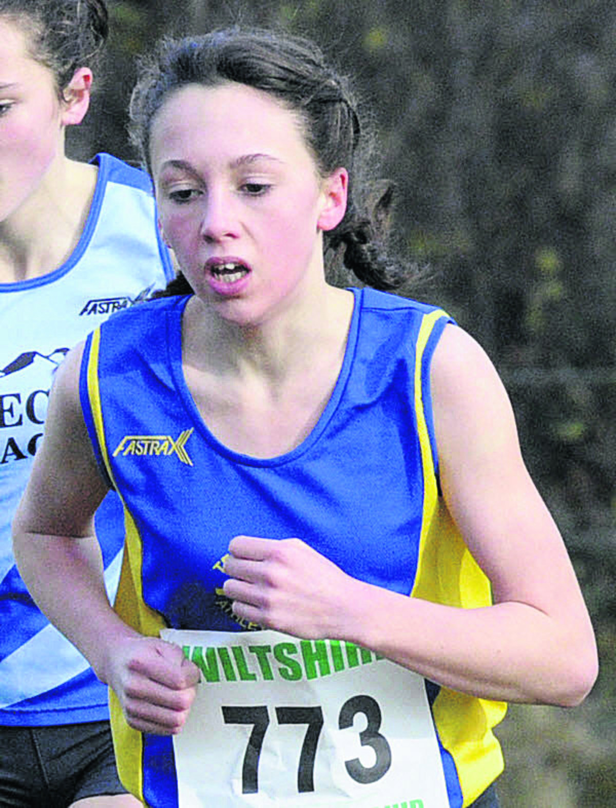 John of Gaunt School's Caitlin Wosika smashed her personal best by more than 15 seconds