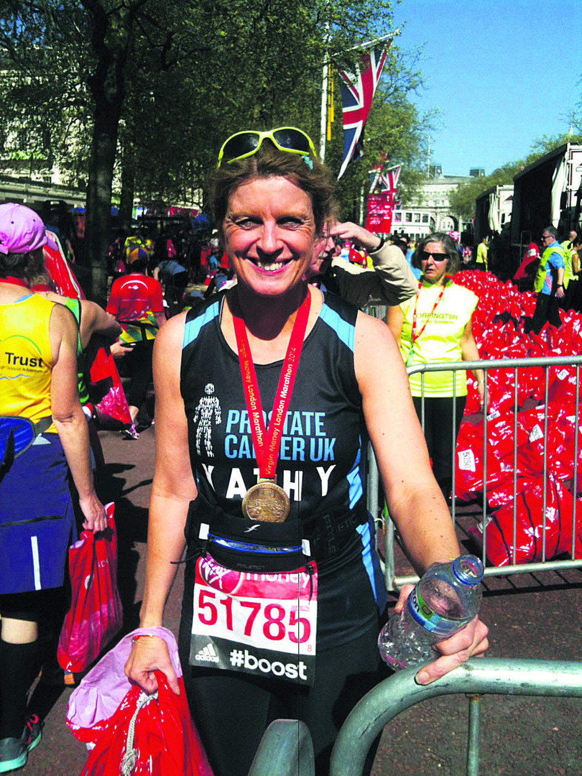 Pizza topped off nan's terrific London Marathon