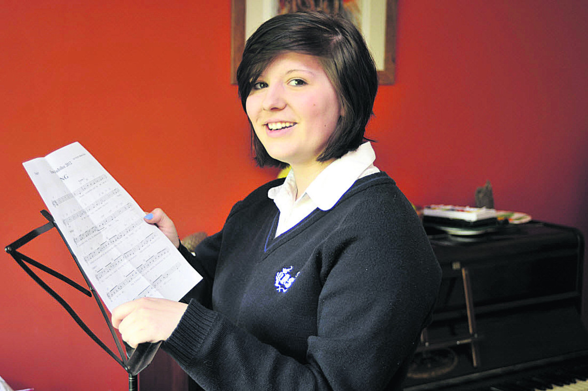 Teen backed Barlow as part of choir