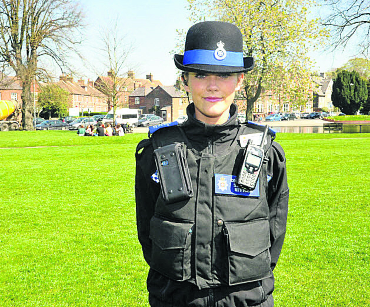 PCSO Jemma Butcher on duty in Devizes. More police community support officers are needed by Wiltshire Police