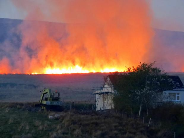 Grass burns in Wales recently - Wiltshire Fire & Rescue Service says extra care must be taken in the countrysi