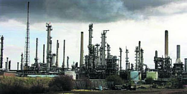 Wiltshire Times: The Esso refinery at Fawley in Hampshire