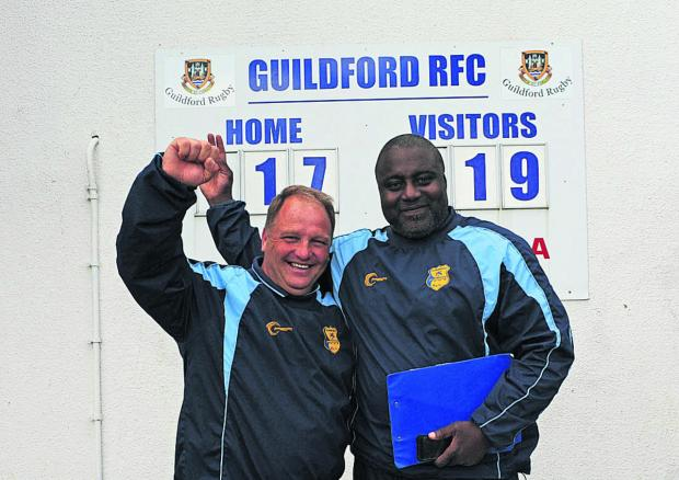 First team manager Nobby Knight and head coach Steve Ojomoh