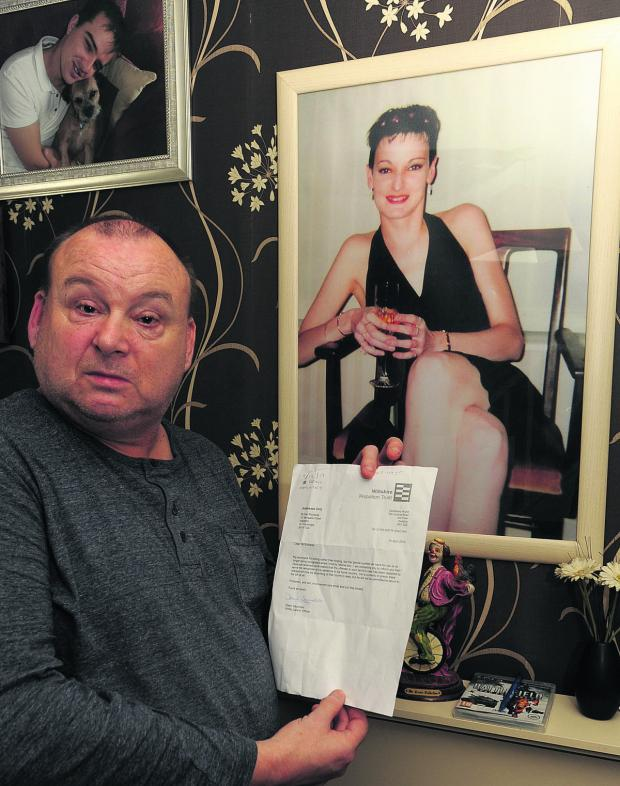Wiltshire Times: Paul Richards with the letter he received from the Wiltshire Probation Trust