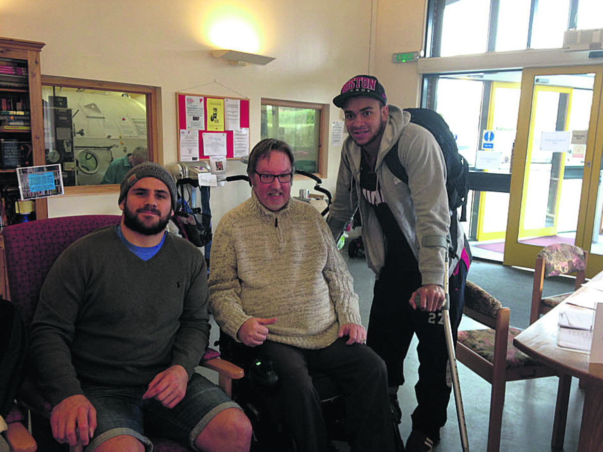 Rugby stars' Warminster MS centre boost