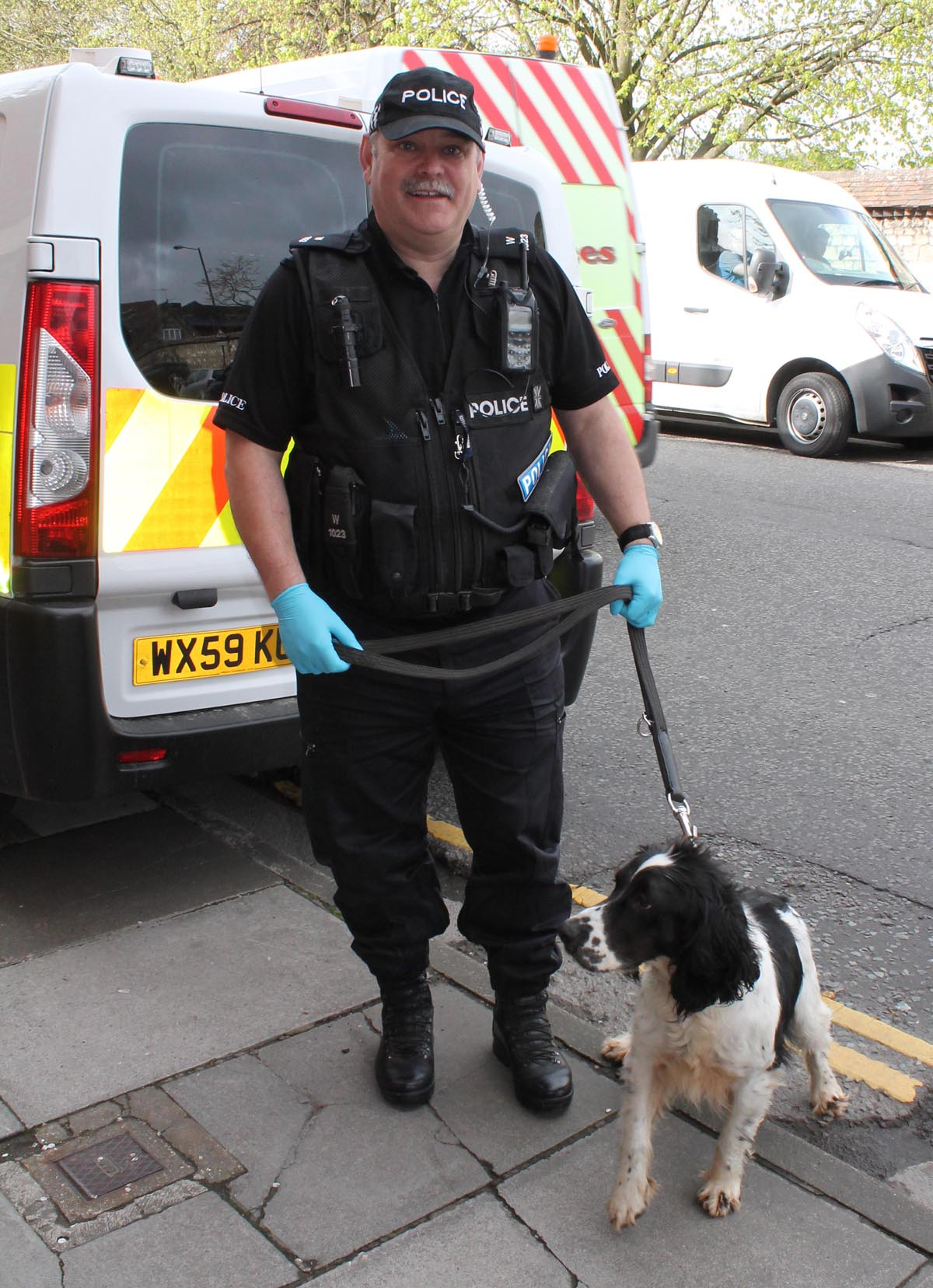 Officers from across Wiltshire took part alongside specialist drugs dogs today