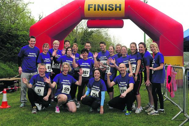 Corsham Primary School's PTA gathers prior to the start of the biggest Corsham 10k event ever