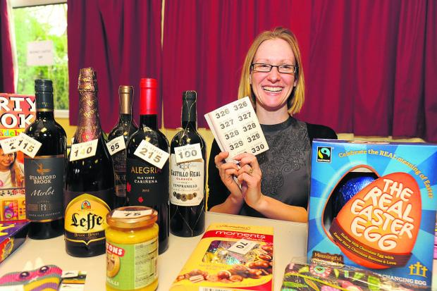 Wiltshire Times: The pre-school's treasurer, Sherrie Harrington at the fundraising annual fair. Proceeds have gone towards a new pavilion the group hopes to have built