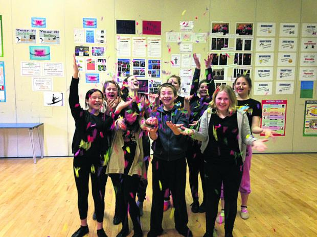 Students from Stagecoach Trowbridge celebrate the news of their Disney achievement