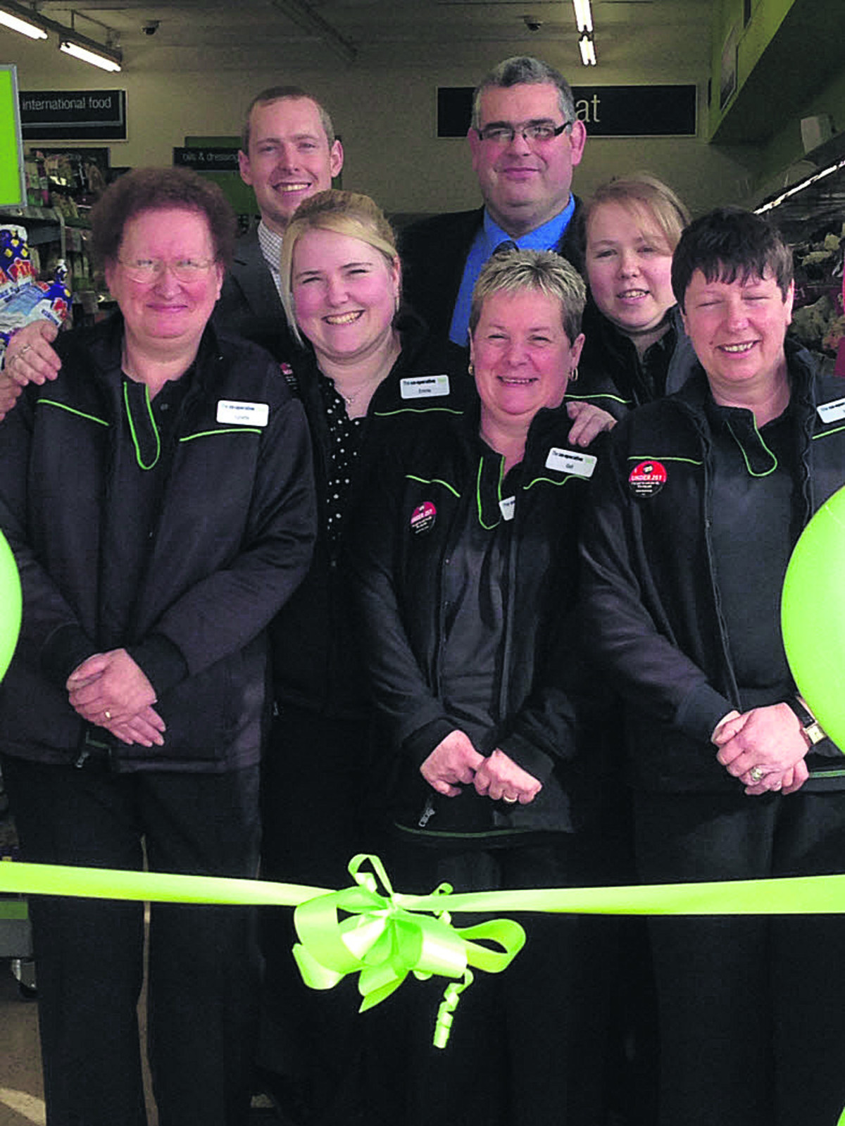 The store team at The Co-operative on Blackmore Road, Melksham, celebrate the