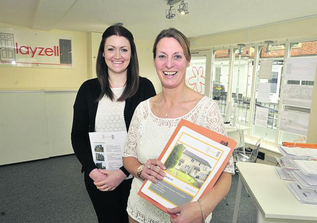 Owner Jo Snook-Haldane, right, and property co-ordinator Lucy O'Grady at the newly opened Layzell property letting agency                                            Photo: Glenn Phillips (49351)