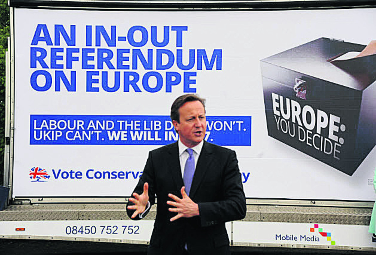 Prime Minister launches Conservative Euro election poster campaign in Chippenham